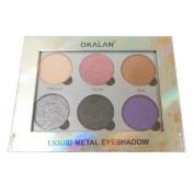 (3 Pack) OKALAN Liquid Metal Eyeshadow Palette B