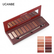ThinkMax Smoky Matte Eyeshadow Palette 12 Colours Women Makeup Cosmetics Shimmer Pearl Eye Shadow Beauty Tools