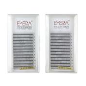 EMEDA 3D W Volume Cluster Eyelash Extension False Eyelashes Individual Eyelashes 0.07 C Curl 12 14MM 2 Tray Individual Lashes