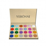VERONNI Long Lasting & Shimmer Eyeshadow Palette - Eyes Makeup Glitter Highly Pigmented Mineral Pressed Glitter Powder Makeup Palette