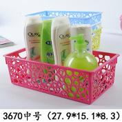 Storage basket / storage basket / CD storage blue / plastic basket / fruit and vegetable blue, green, medium 3570 110 grammes