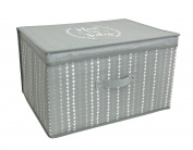 Green Ladder Hearts Design Jumbo Storage Box