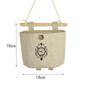 CUPWENH Cotton And Linen Cloth Pouch Pockets In The Package Wall Moisture-Proof Glove Mounted A Small-Format Bag ,H
