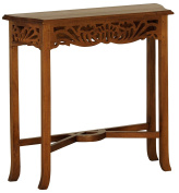 NES Furniture Fine Handcrafted Solid Mahogany Wood Bordeaux Side Table - 80cm