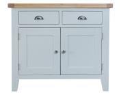 Manchester Painted Oak Grey 2 Door 2 Drawer Sideboard / Small Cabinet Dresser Base