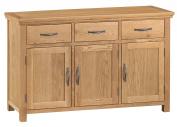 Alberta Oak 3 Door 3 Drawer Sideboard