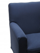Happidea f3111101411020000 M11 Sofa, poliestere-cotone, Blue, 38 x 19 x 31.5 cm