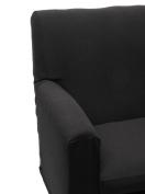 Happidea f3111101411010000 M3042 Armchair, poliestere-cotone, Black, 38 x 19 x 31.5 cm