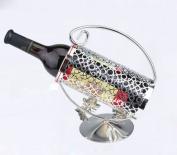 Stainless steel portable wine rack European-style wine rack creative mobile wine racks