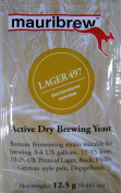 Mauribrew Beer Yeast - LAGER 497 - Brewing Yeast 12,5g - Yeast for beer - Active Dry Beer Yeast - Bottom fermenting yeast - Lager Yeast - Pilsner Yeast