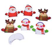 Souarts Coloeful Christmas Tree Decoration Snowman Santa and Deer for Xmas Ornament 13.5cmx11cm;10cm