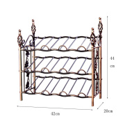 CLOTHES- Iron Can Be Dismantled 12 Large-capacity European-style Garden Style Wine Storage Rack Display Stand