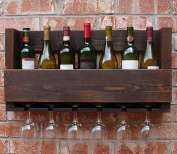CLOTHES- Solid Wood Wall Hangers Wine Glass Racks Bar Home Retro Red Wine Rack
