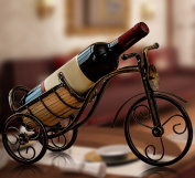 CLOTHES- European Romantic Iron Tricycle Wine Shelf Store Crafts Bar Wine Racks Display Stand Living Room Decorations