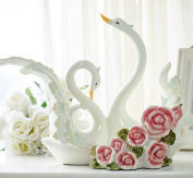 CLOTHES- Couple Swan Multifunctional Resin Decorator Wine Rack Couple Swan Multifunctional Decorator Wine Rack