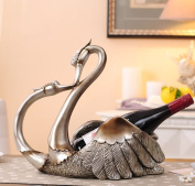 CLOTHES- Resin Swan European And American Creative Wine Cabinet Decoration Ornament Crafts Bar Display Stand Home Living Room Entrance Decoration