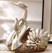 CLOTHES- Swan Resin European Home Living Room Decoration Crafts Wine Rack Wine Cabinet Ornament Crafts Bar Display Stand Home Wedding
