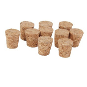 10pcs Tapered Wooden Cork Bung Stopper Tops for Bottle Jar Craft 15 x11 x15mm