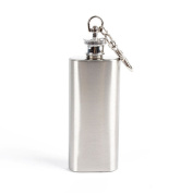 Yeshi Mini Portable Pocket Hip Flask 60ml - Stainless Steel Wrapped Cover and 100% Leak Proof - Fits any Suit for Discrete Liquor Shot Drinking