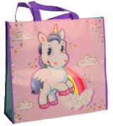 Fun Unicorn Reusable Pictorial Printed Shopping Shopper Bag For Everyday Use