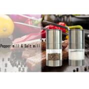Salt and Pepper Grinder Set Pepper Salt Mills Grinder Set Simple Manual Stainless Steel Salt Pepper Mill Grinder Muller Kitchen Tool