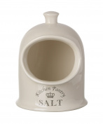Majestic Cream Salt Pig, Kitchen Storage Jar Pot