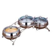 houyuanshun Creative Stainless Steel Visual Glass Cover Seasoning Tank Set Seasoning Box Glass Salt Tank Kitchenware