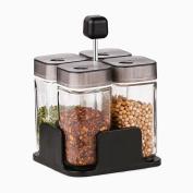 houyuanshun Rotating Glass Seasoning Bottles Seasoning Tank Sets Household Condiments Sandboxes Kitchen Supplies