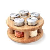 houyuanshun Rotary Seasoning Tank Congee Bottle Set Salt Tank Oil Tank Seasoning Box Creative Set Set
