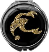 Pillbox / Round / Model Leony / Star sign / Crab in gold