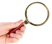 Magnifying Glass White Glass Mahogany Handle Old Reading Book Reading Newspaper