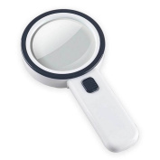 30 Times Optical Glass Lens Led Light Magnifier Antique Collection Appreciation Reading
