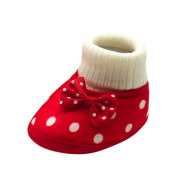 Baby Prewalker Shoes,For 0-12 Months Baby,Toddler Newborn Baby Girl Crib Winter Bowknot Boots