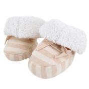 Meliya Baby Cotton Fleece Shoes Soft Sole Infant Prewalker Toddler Winter Warm Stripe Boots Bootie Socks