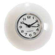 Silicone Bathroom Kitchen Shower Suction Wall Clock Water-Resistant Timer Glass Wall Window Mirror Shower Clock White