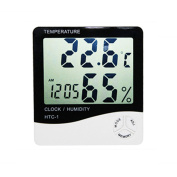 FLORATA Room Indoor LCD Digital Hygrometer Thermometer Temperature Humidity Metre Clock Weather Thermometers