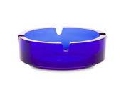 Borgonovo 6135111 Dresden Glass Ashtray, 10.7 cm, Blue