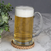 Summer Drinks Glass Tankard With Handle - 0.4L