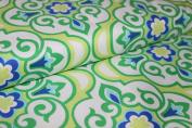 Damask Cotton Patchwork Vintage Retro Print Flowers Patchwork - 100% Cotton / 100% Cotton Fabric by the Metre, VE 0.5 M