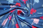 Swafing Jersey Cranes & Flower Blue 0.5 m