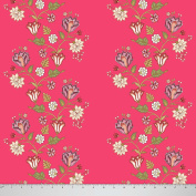 Soimoi 110cm Inches Wide Floral Printed Moss Georgette Fabric For Sewing 130 GSM By The Metre - Pink
