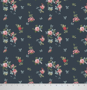 Soimoi 110cm Inches Wide Floral Printed Moss Georgette Dressmaking Craft Fabric By The Metre - Greyish Blue
