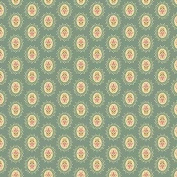 Cotton fabric - Fat Quarter - Andover - Crystal Farm - Medallion Pale Blue