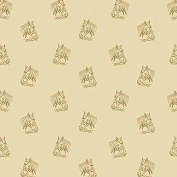 Cotton fabric - Metre - Andover - Crystal Farm - Painted Pony Wheat