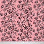 Soimoi 180 GSM 2 - Way Stretch 150cm Inches Wide Floral Printed Velvet Fabric By The Metre - Salmon Pink