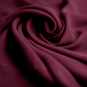 Dark Red Wine Burgundy Maroon Chiffon Fabric - Woven sheer material - 150cm wide - Sold by the metre