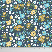 Soimoi Floral Printed 150cm Inches Wide 2 - Way Stretch Velvet Sewing Fabric Supplies By The Metre - Multicolour