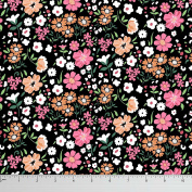 Soimoi Floral Print 130 GSM Moss Georgette Dressmaking Fabric By The Metre 110cm Inches Wide - Multicolour