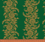 Soimoi 130 GSM Moss Georgette Floral Paisley Printed Fabric By The Metre 110cm Inches Wide - Dark Green