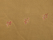 Embroidered Floral Fleece Fabric Beige - per metre